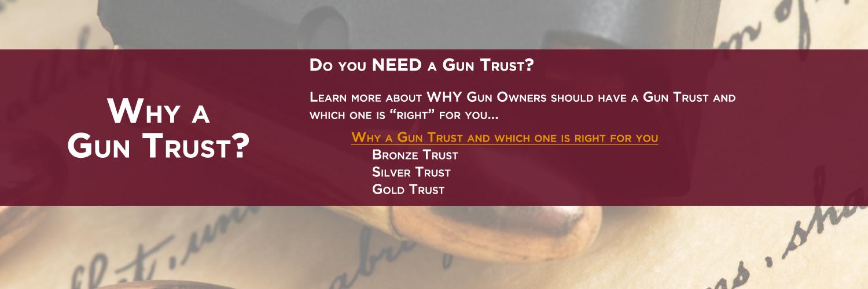 Why a Gun Trust - darker faded sliding image