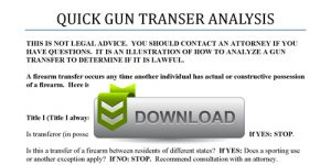 Quick Gun Transfer Analysis with download
